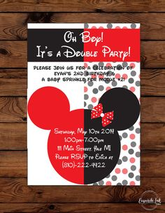 Hey, I found this really awesome Etsy listing at https://www.etsy.com/listing/184375882/micky-minnie-mouse-double-party