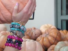 Multicolored bracelets --> Sport Your Arm Stack At The Pumpkin Patch! #fall2012 @rubeyG