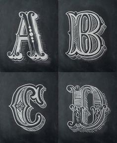 Chalk Alphabet on Behance