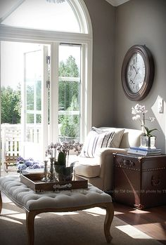 Love the light coming through this room.  would love to get a book and just sit and read.