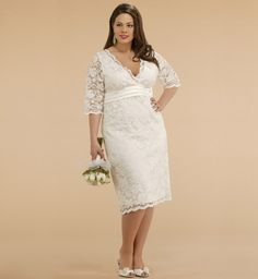 plus size wedding dresses | Stunning casual plus size wedding dresses give the reasonable latest ...