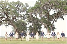 love the navy groomsmen and simple bridesmaids