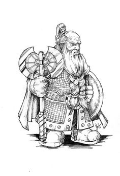 A grim and serious character, Golgrim is part of the d&d Narvator campaign, a group of sturdy dwarfs braving the uncharted territories in search of adventure and profit. Description from deviantart.com. I searched for this on bing.com/images