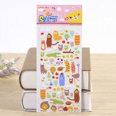 3PCS/lot Kawaii Cartoon 3D Bubble Stickers DIY Diary Scrapbook Notebook Album Cup Phone Decor Sticker Stationery School Supplies