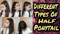 Latest Hairstyles, Easy Hairstyles, Girl Hairstyles, Half Ponytail, Different Types, H Style, Curly Hair Styles, Guys, Youtube