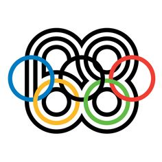 """""""I think that graphic design is all about telling stories, but visual stories.""""—Lance Wyman In graphic artist Lance Wyman won a competition to design the logos for the 1968 Olympics in Mexico. Mexico Olympics, 1968 Olympics, Logo Wifi, Mexico 68, Mexico City, Lance Wyman, Olympic Logo, Milton Glaser, Logo Design"""