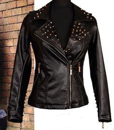 Punk Fashion Nice Leather Rivet Jacket