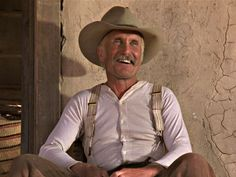 """""""And another thing, Bol, I want you to quit whackin' that dinner bell for supper..."""" Robert Duvall as Gus McCrae. Lonesome Dove. 1989"""