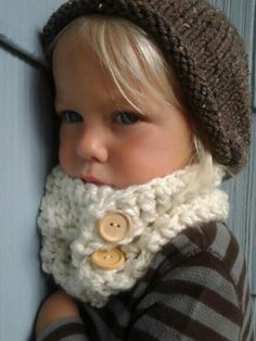 Crocheted Kids Cowl Crochet Neck Warmer Toddler by SweetKiddoCo, - so cute