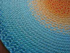 aqua+mint+sun+rug+hand+braided+cotton+by+greenatheartrugs+on+Etsy,+$512.00