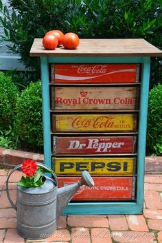 DIY Vintage Soda Crate Chest  - CountryLiving.com