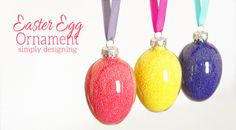 This Sprinkle Easter Egg Ornament make the cutest decoration or gift idea! They are perfect for spring or Easter and are seriously the cutest thing ever!