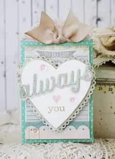 Always Love You Card by Melissa Phillips for Papertrey Ink (March 2014)