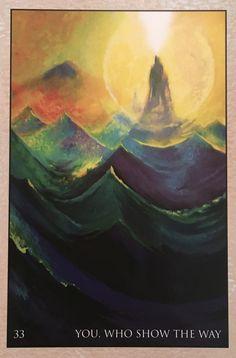 Usted, que mostrará el camino, desde la cubierta de la tarjeta de Oracle RUMI, por Alana Fairchild, obras de arte por Rassouli
