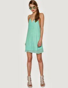 Mint Slip Dress ~ Fashion519