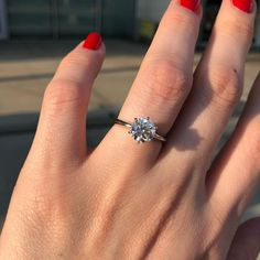 This platinum six-prong solitaire by Blue Nile is the ultimate classic engagement ring style. Crafted to showcase your choice of … Elegant Engagement Rings, Princess Cut Engagement Rings, Platinum Engagement Rings, Engagement Ring Styles, Antique Engagement Rings, Round Solitaire Engagement Ring, Platinum Ring, Traditional Engagement Rings, Solitaire Diamond
