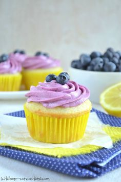 If you are like me and are hanging onto every ounce of summer, then you must make this light and refreshing summertime dessert - Lemon Blueberry Cupcakes!