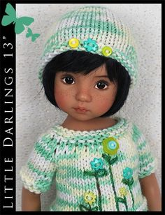 """Mint Green Summer Outfit Little Darlings Effner 13"""" by Maggie & Kate Create"""