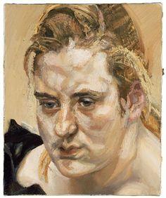 "igormaglica: "" Lucian Freud Susie 1988 oil on canvas, x cm "" David Hockney, Sigmund Freud, Francis Bacon, Robert Rauschenberg, Edward Hopper, Lucian Freud Portraits, Antoine Bourdelle, Artists And Models, Portrait Art"