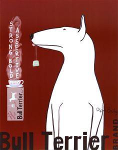 Bull Terrier tea print