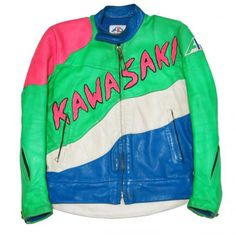 VINTAGE KAWASAKI ZX-7 LEATHER RIDERS JACKET - RIGHTSTUFF WebStore