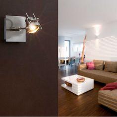 Aplique trendy en níquel mate con un LED de 5W cálido orientable