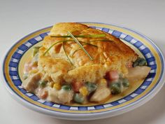 Easy Chicken Pot Pie.  This is a dish I like to make with chicken that I have cooked in a crockpot.