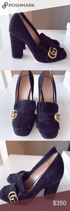 Gucci Marmont Pumps size 38 Worn once. Suede pumps in great condition condition. Size 38 Gucci Shoes Heels