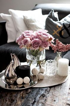 Die 9 besten Bilder auf Deko Wohnzimmertisch | Decorating coffee ...