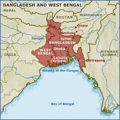 The Bengal Nation is split into two parts divided by religion. The muslim part is the country of Bangladesh and the Hindu part is the Indian state of West Bengal. Together they cover an area of 236,322 sq km. The total population is 247,942,698.