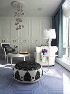 """A New York City apartment bedroom by Jonathan Adler from """"METROPOLITAN HOME: DESIGN 100"""" by Michael Lassell"""