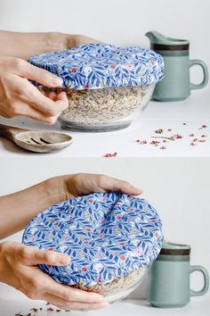 Reusable fabric bowl covers are a simple and cute swap for single-use plastic wrap. If you're looking for zero waste alternatives in your home, these covers are an easy first step. Machine washable and durable, you'll feel great ditching the plastic wrap for a reusable option in the kitchen. Use these bowl covers when bringing a dish to a potluck or keeping leftovers fresh at home. Bowl covers also make perfect hostess gifts or something to gift a new homeowner.