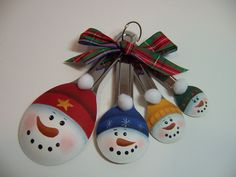 Snowmen spoon ornaments - no directions but simple enough to use picture as sample.