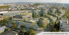 Eco Campus | Châtillon | INVESTISSEURS : Crédit Agricole Assurances | Certifié HQE et labellisé BREEAM « very good », capacité d'accueil de 4 900 personnes sur 72 000m²