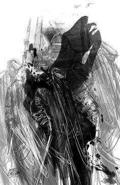 """""""Emme"""" ilustración de Andrés Casciani para el libro """"Minificciones"""" de Paulo Neo - digital, 2014/ http://andrescasciani.com/"""