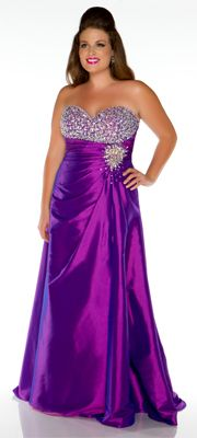 Mac Duggal Prom 2013 - Purple Strapless, Beaded Sweetheart Gown