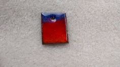 Fire Torched Enamel Piece by EnamoredwithEnamel on Etsy, $5.00