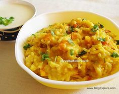 moong dal khichdi recipe - comforting one pot meal using rice and yellow mung lentils. An easy and quick khichdi perfect for lunch. Indian Food Recipes, Vegetarian Recipes, Ethnic Recipes, Moong Dal Khichdi, Healthy One Pot Meals, Rice Dishes, Garam Masala, Pressure Cooking, Vegetarische Rezepte
