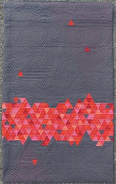 "Beautifully fun geometric ""Triad"" quilt by Michèle-Renée (M-R) Charbonneau of Quilt Matters."