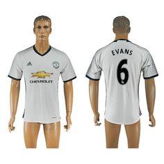 Manchester United 16-17 #Evans 6 3 trøje Kort ærmer,208,58KR,shirtshopservice@gmail.com