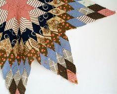 antique patchwork quilt star.