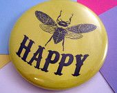 Pocket Mirror - Bee Happy - 2.25 Inches - Party Favor, Bridesmaid Gift, Shower Favor, Wedding Favor Bee Party Favors, Wedding Favors, Balloon Lanterns, Balloons, Bee Cookies, Bee Happy, Shower Favors, Bridesmaid Gifts, Crafts For Kids