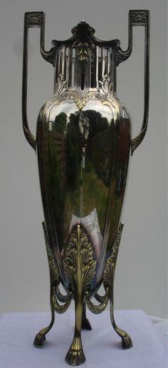 WMF Jugendstil Art Nouveau Silver Plate Vase FABULOUS Statement Piece