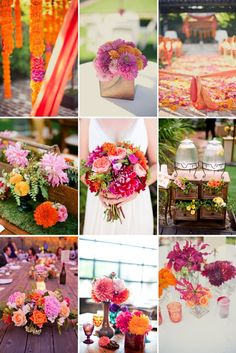 wedding flowers: bright summer color palette | wedding-color-palettes-berry-and-tangerine-outdoor-weddings.large.jpg ...