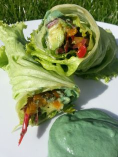 Raw Green Mayonnaise and Avocado Wraps Recipe