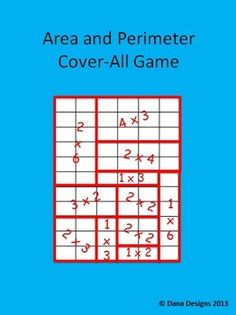 AREA AND PERIMETER CENTER - This game comes with 4 game boards of varying difficulty and directions. This is great for differentiation, early finishers and to challenge your math students! Math Strategies, Math Resources, Math Activities, Area And Perimeter, Perimeter Games, Math Stations, Math Centers, Math Measurement, Third Grade Math