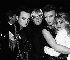 Boy George, Andy Warhol, Marilyn and Cornelia Guest out clubbing in 1987.