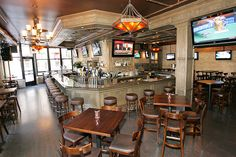 Chicago's 9 Best Sports Bars   #refinery29  http://www.refinery29.com/chicago-bars#slide9  WestEnd Bar & Grill  If you need a spot to watch sports in the West Loop, WestEnd is it. There are 32 plasma TVs amidst an array of booths and high-top tables and nearly 50 varieties of beer to toast to your team (or console yourself after a loss). Drunk munchies? A pizza kitchen turns out piping-hot pies.  WestEnd Bar & Grill, 1326 West Madison Street (at Ada Street); 312-981-7100.