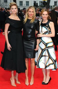 "Kate Upton, Cameron Diaz and Leslie Mann on the red carpet at the UK gala premiere of ""Th"