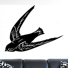 nice Swallow Diving Bird Wall Sticker